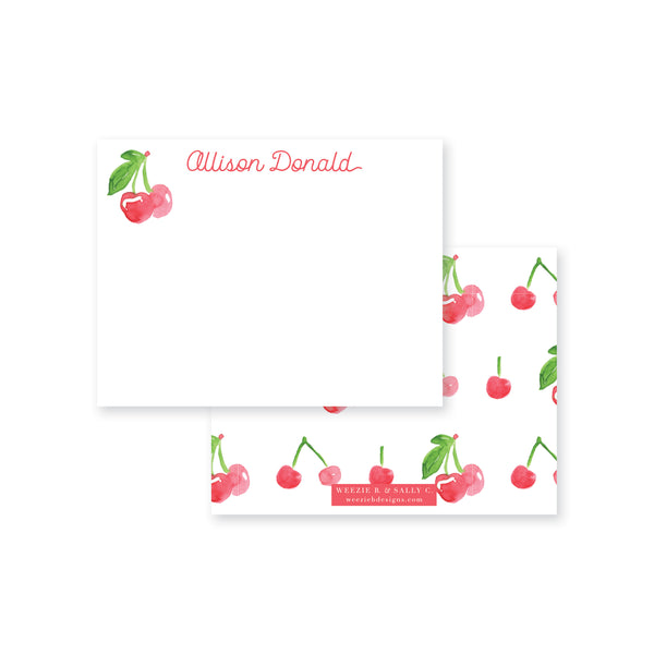 Cherry Sweet Flat Note Card