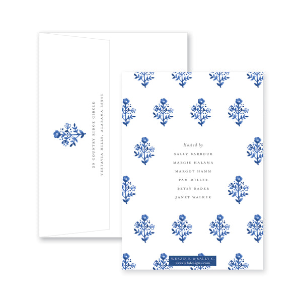 Delft Flowers Bridal Invitation