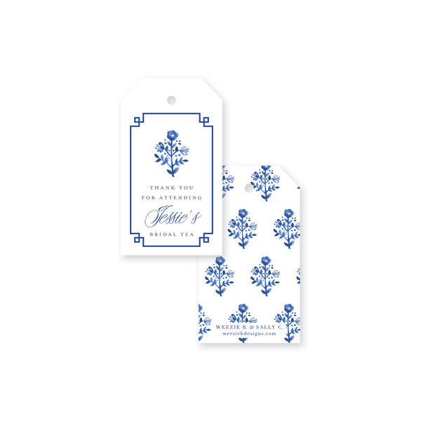 Delft Flowers Thank You Gift Tag
