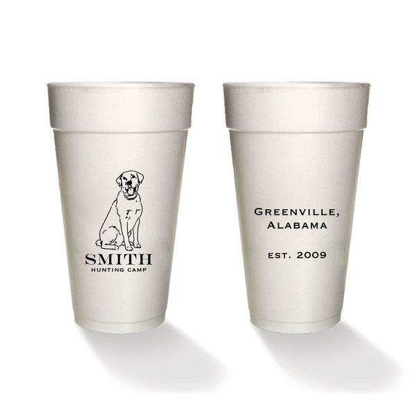 Sketched Lab Family Styrofoam Cups
