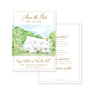 Elegant Home Save-the-Date