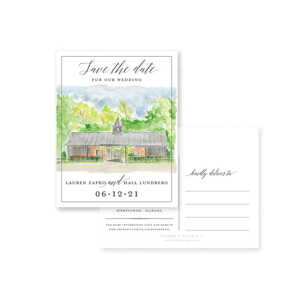 Farm Modern Watercolor Photo Save-the-Date Post Card