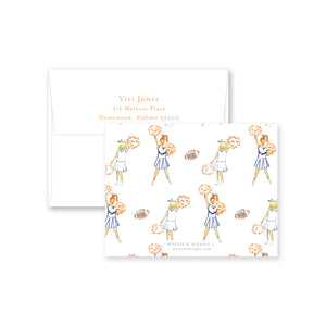 Watercolor Cheer Flat Note Card