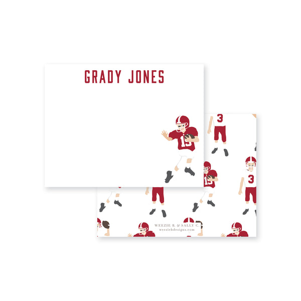 Football Players Flat Note Card