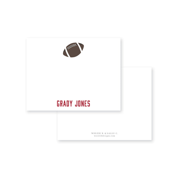 Football Flat Note Card