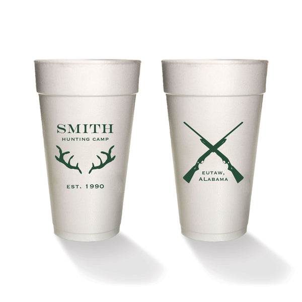 Hunting Camp in the Woods Styrofoam Cups