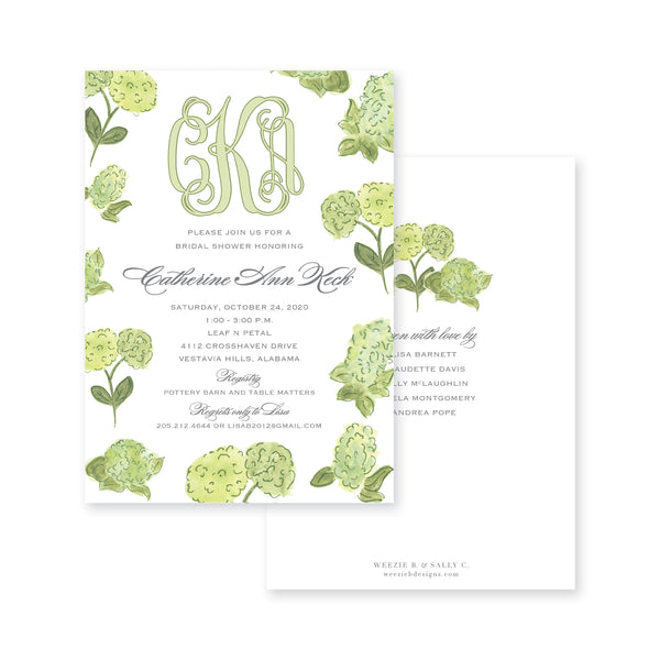Watercolor Hydrangea Bridal Shower