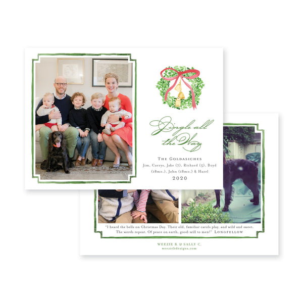 Jingle Bells Christmas Card