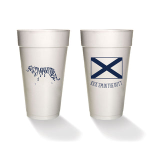 Kick 'Em in the Butt Styrofoam Cups (set of 8)
