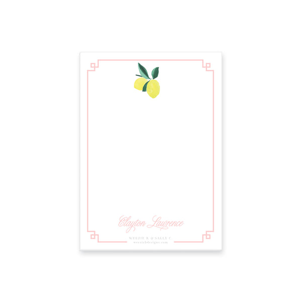 Lemon Polka Dot Notepad