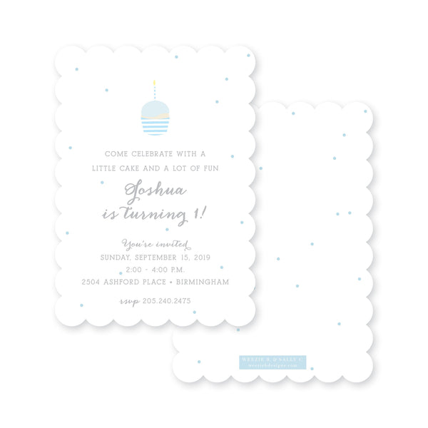 Weezie B. Designs | Little Cupcake Blue