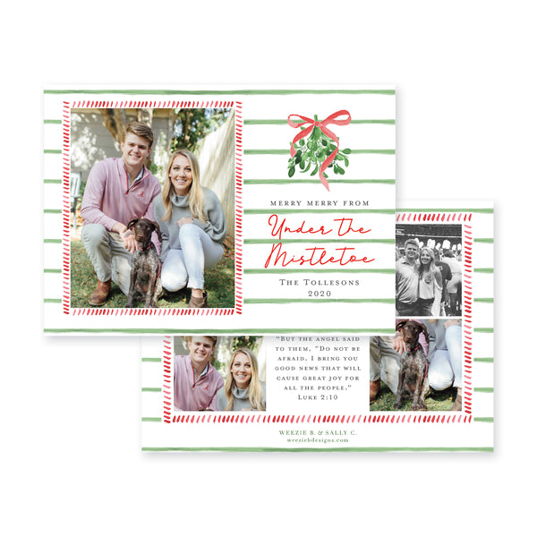 Under the Mistletoe Christmas Card