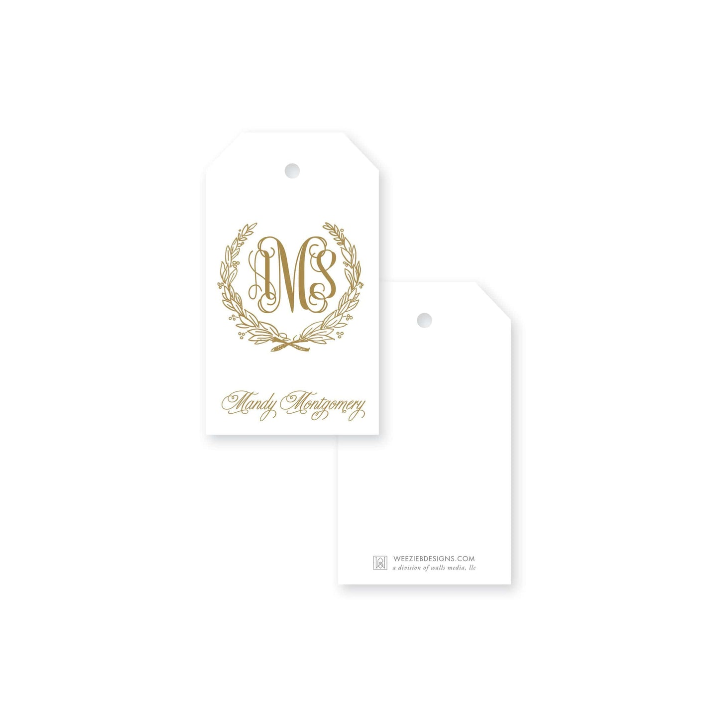 Weezie B. Designs | Fancy Laurel Gift Tag
