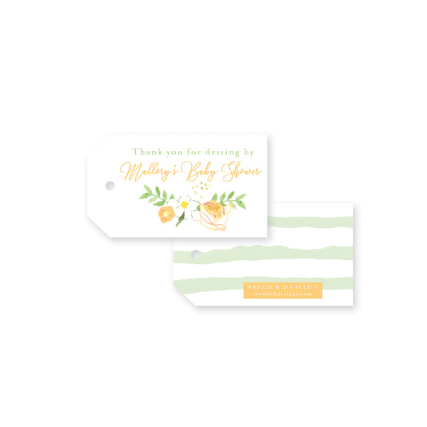 Muffins & Mimosas Thank You Gift Tag