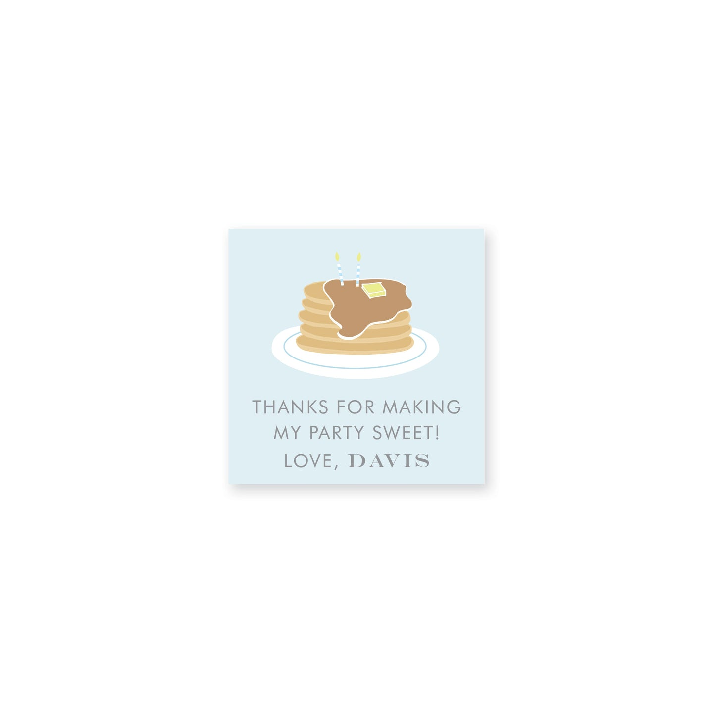 Pancakes & PJs Gift Stickers