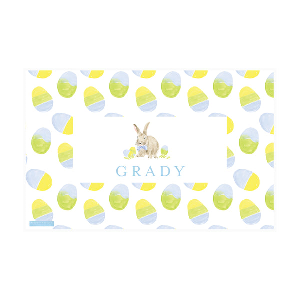 Weezie B. Designs | Dapper Easter Bunny - Stripes Placemat
