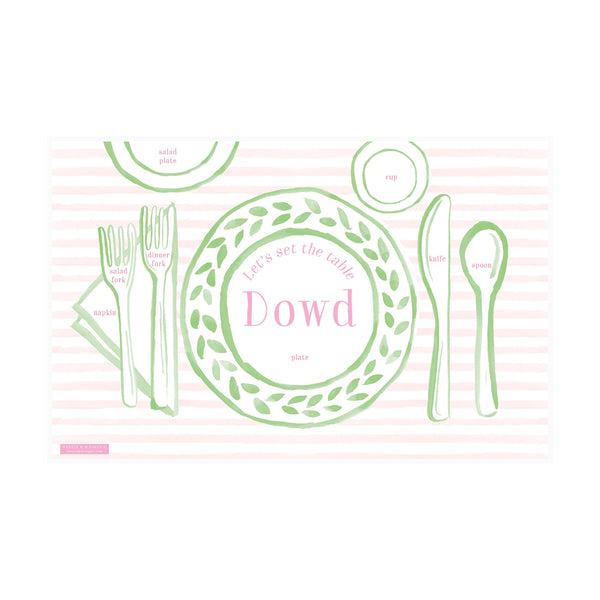Weezie B. Designs | Place Setting Fun Placemat