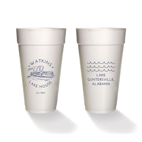 Pontoon Styrofoam Cups