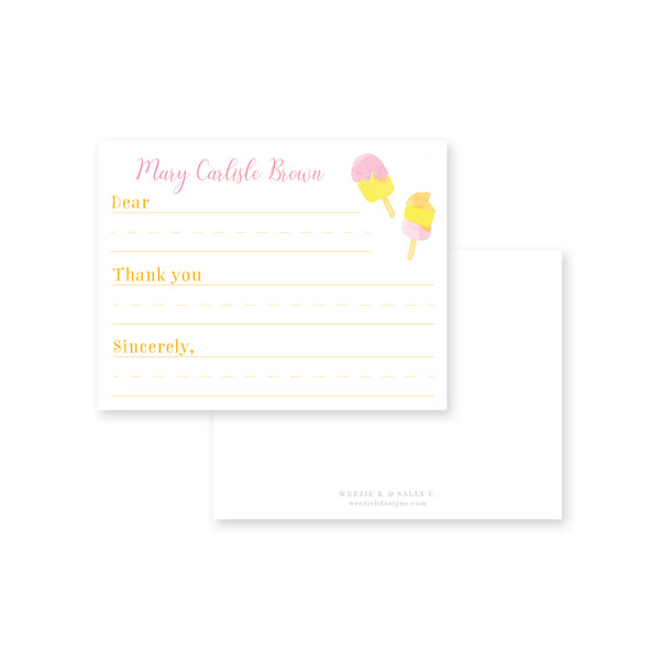 Popsicle Fill-In Flat Note Card