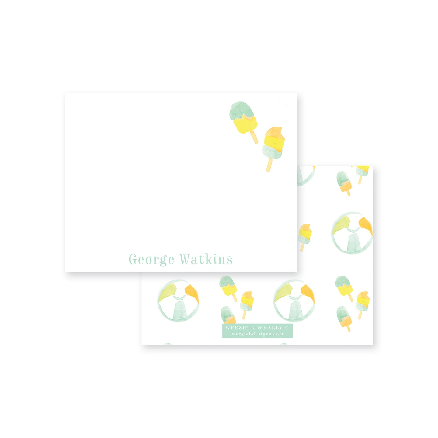 Popsicle Flat Note Card