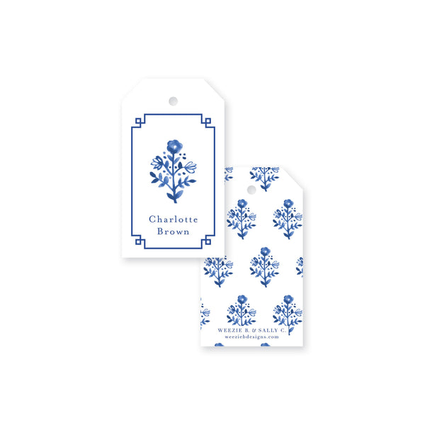 Delft Flowers Gift Tag