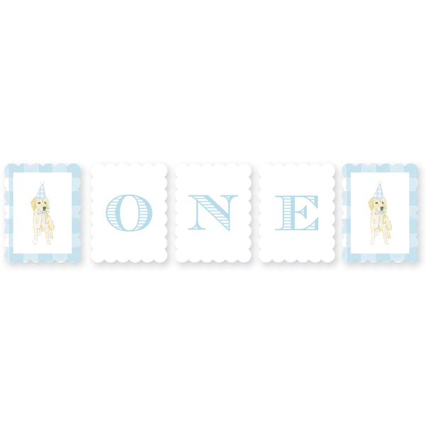 Puppy Paw-ty One Highchair Banner