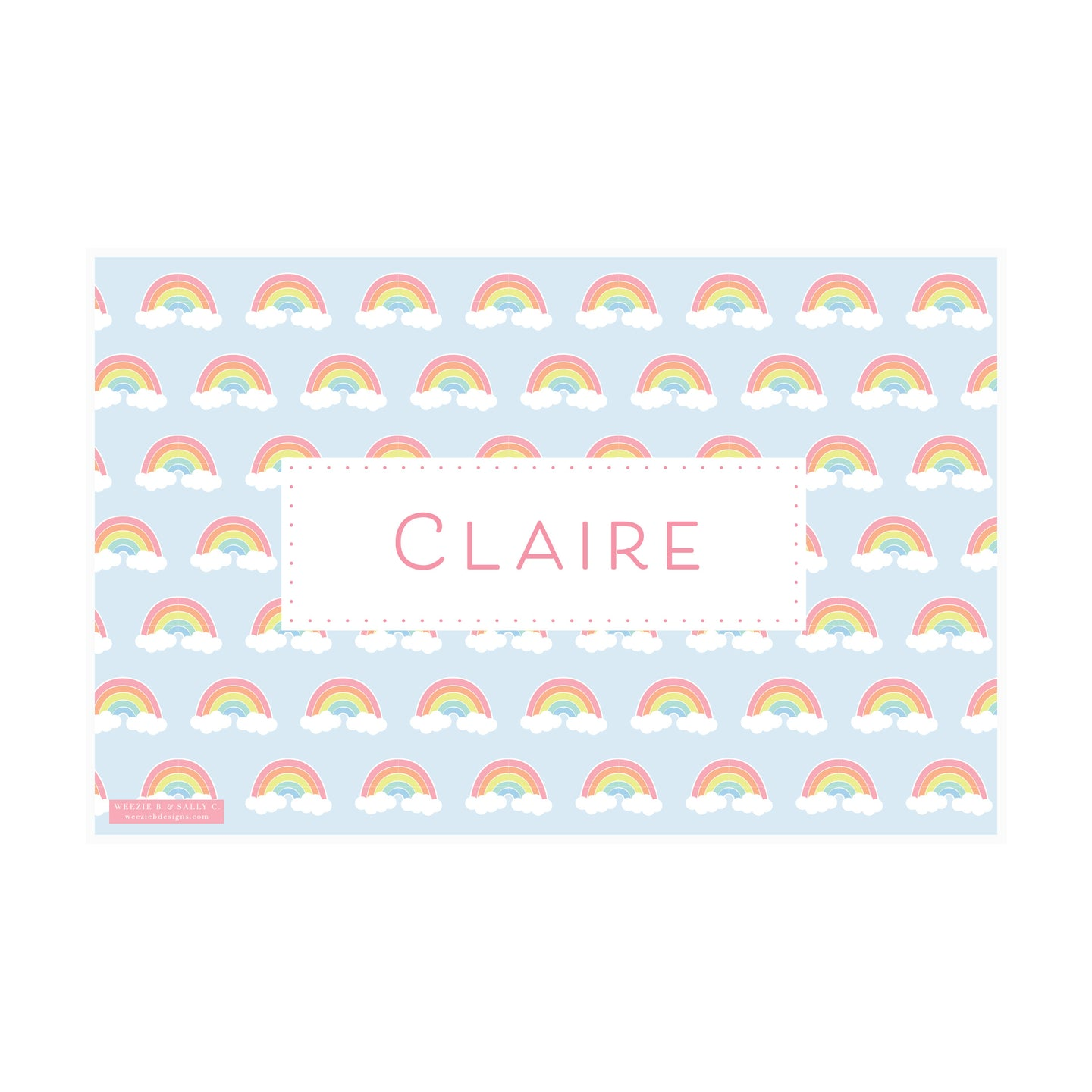 Rainbow Stripes Placemat