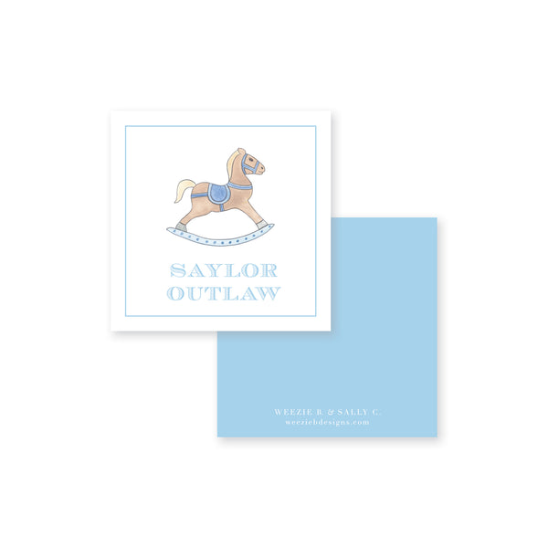 Watercolor Rocking Horse Calling Card