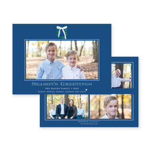 Load image into Gallery viewer, Simple Christmas Wreath with Blue Bow