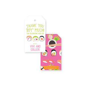 Sushi Rolling Thank You Gift Tag