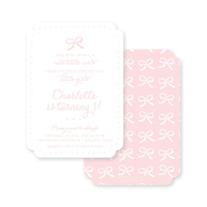 Weezie B. Designs | Sweet Bows Invitation