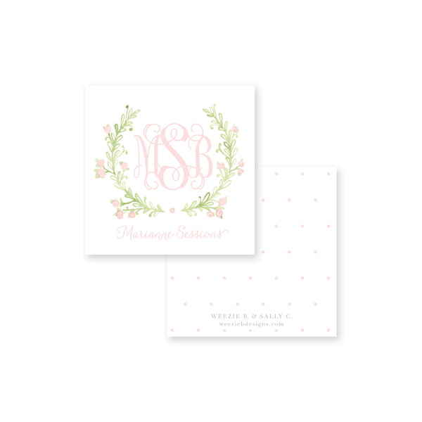 Sweet Watercolor Wreath Polka Calling Card