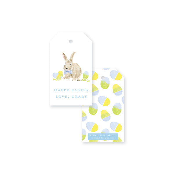 Weezie B. Designs | Dapper Easter Bunny Gift Tag