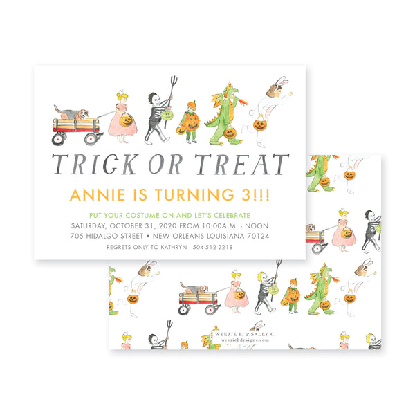 Weezie B. Designs | Trick or Treat Invitation