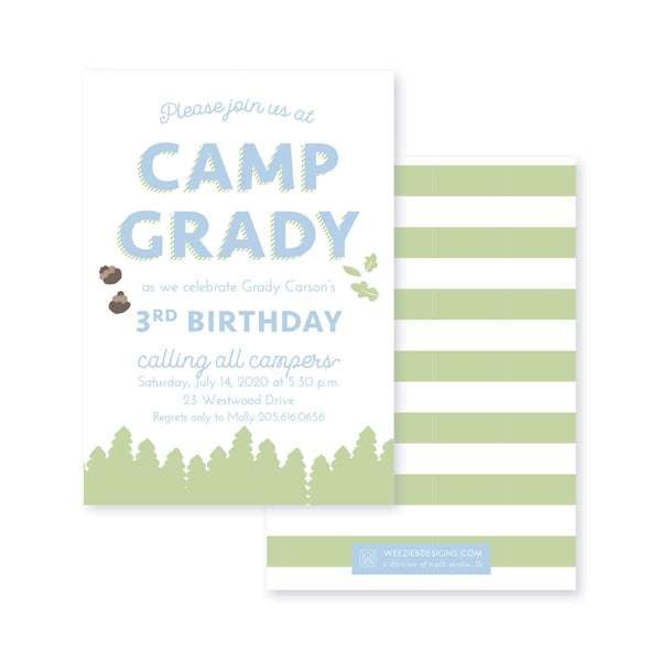 Calling All Campers Birthday