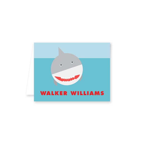 Watch Out For Sharks Folded Note Card