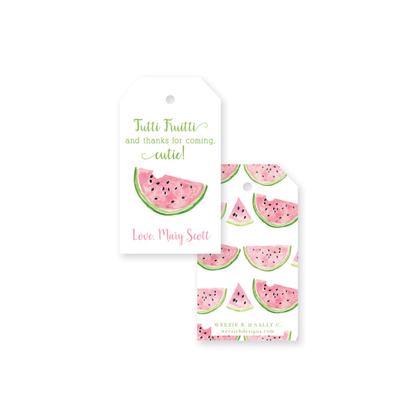 Sweet Watermelon Gift Tag