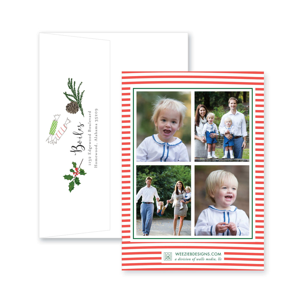 Weezie B. Designs | Christmas Icons Christmas Card