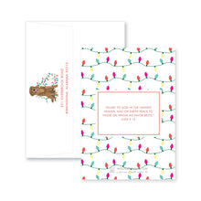 Load image into Gallery viewer, Weezie B. Designs | Illustrated Dog with Christmas Lights Christmas Card