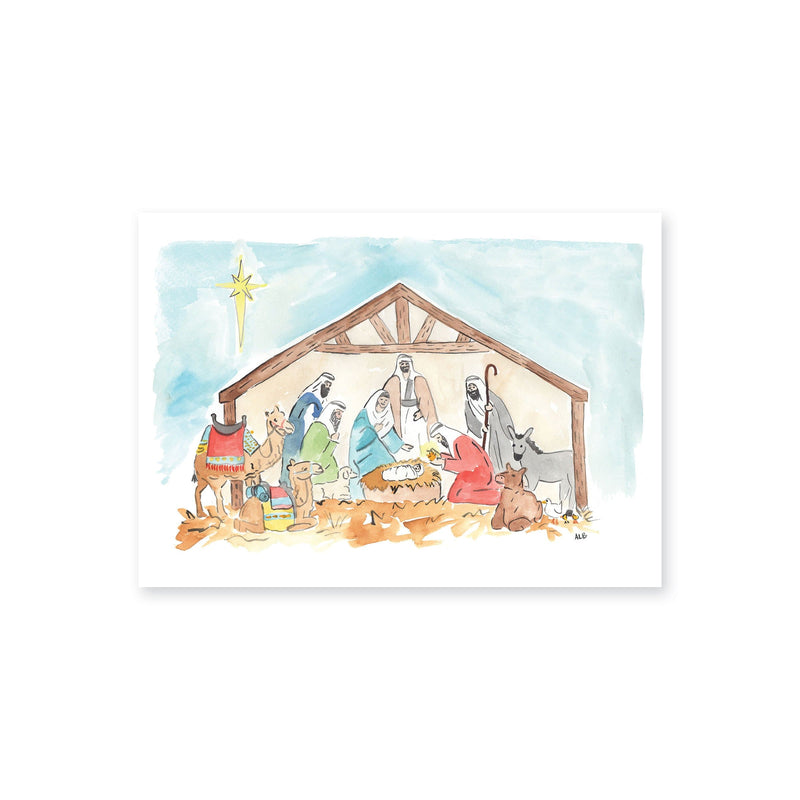 Weezie B. Designs | Simple Watercolor Nativity