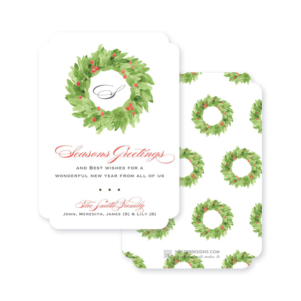 Weezie B. Designs | Watercolor Christmas Wreath