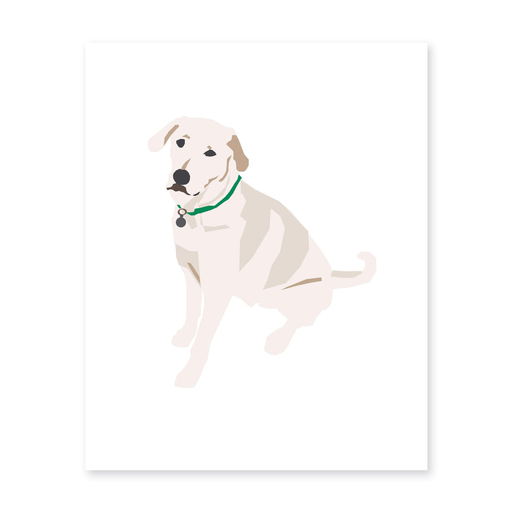 Weezie B. Designs | White Lab Art Print