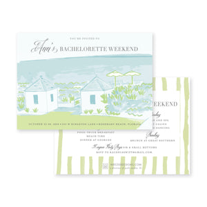 Weezie B. Designs | Bachelorette Invitation | Rosemary Beach Green