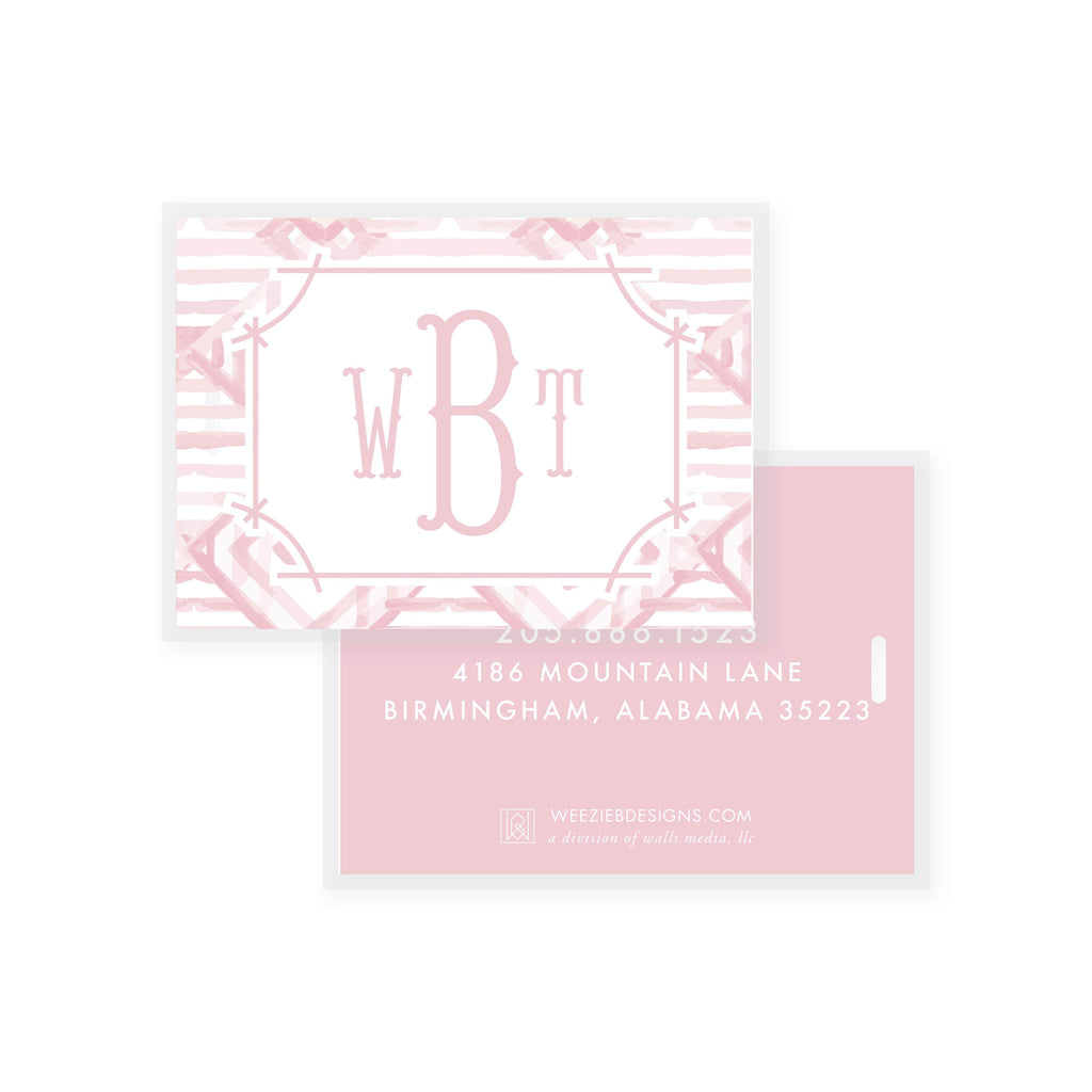 Weezie B. Designs | Watercolor Bamboo Bag Tag