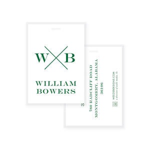 Weezie B. Designs | Block X With Name and Monogram Bag Tag