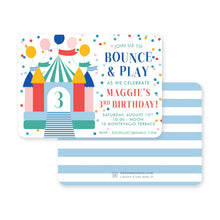 Load image into Gallery viewer, Weezie B. Designs | Kids Birthday Invitation | Bounce & Play
