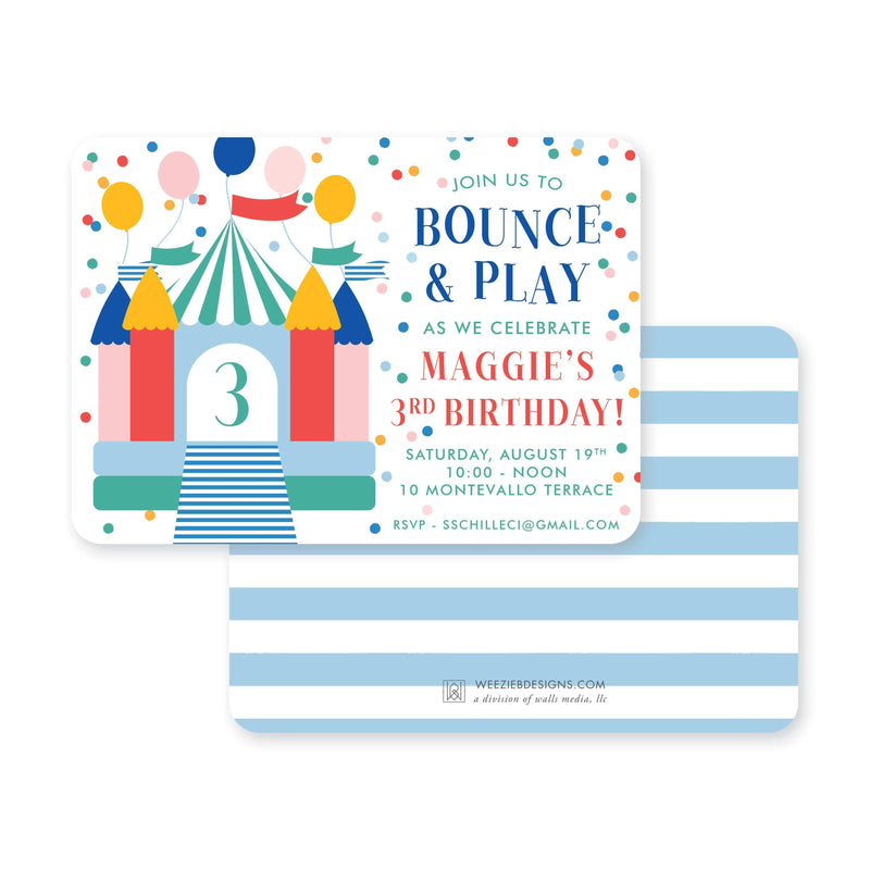 Weezie B. Designs | Kids Birthday Invitation | Bounce & Play