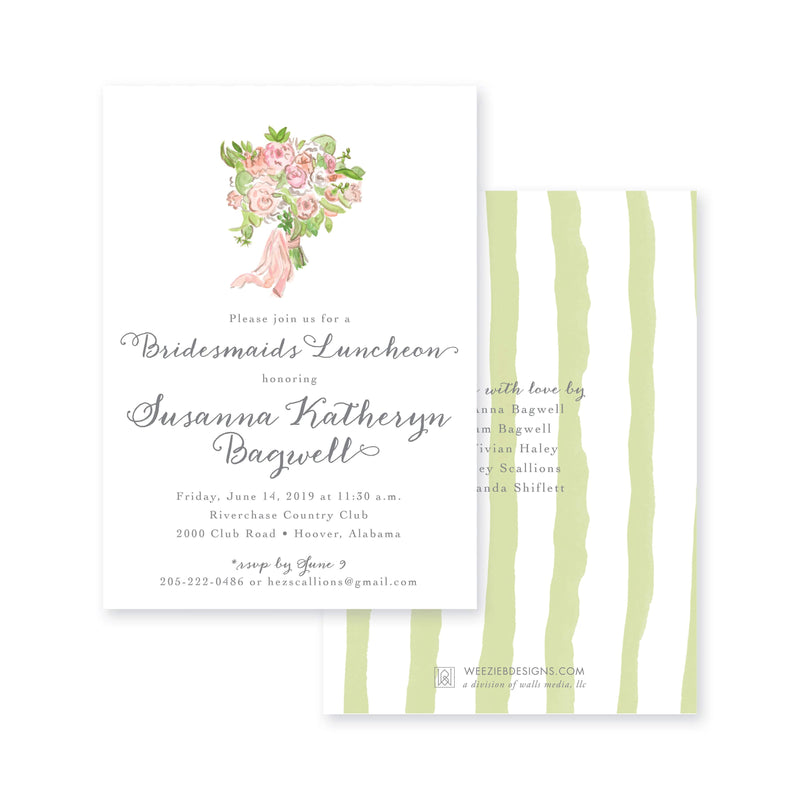 Weezie B. Designs | Bridal Bouquet Bridal Shower Invitation
