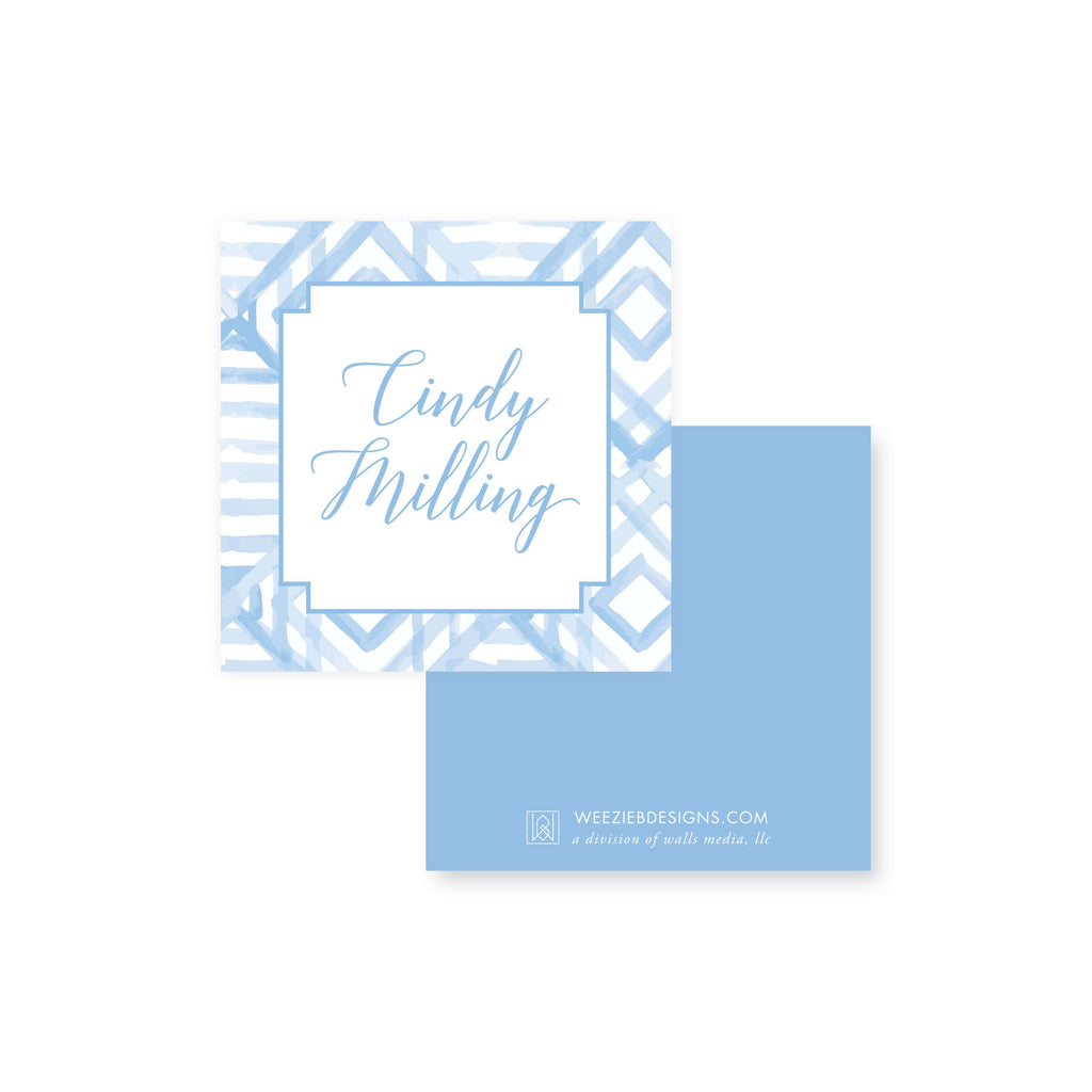Weezie B. Designs | Watercolor Bamboo Calling Card