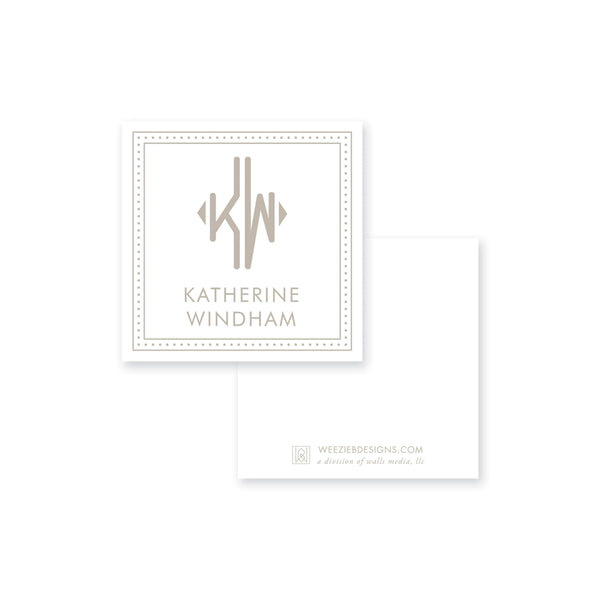 Weezie B. Designs | Dot Line Border with Name Calling Card